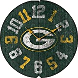 Imperial Officially Licensed NFL Merchandise: Vintage Round Clock, Green Bay Packers