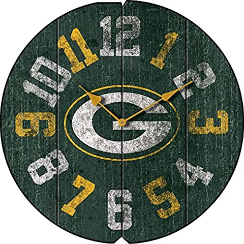 Imperial Officially Licensed NFL Merchandise: Vintage Round Clock, Green Bay Packers - Imperial International Green