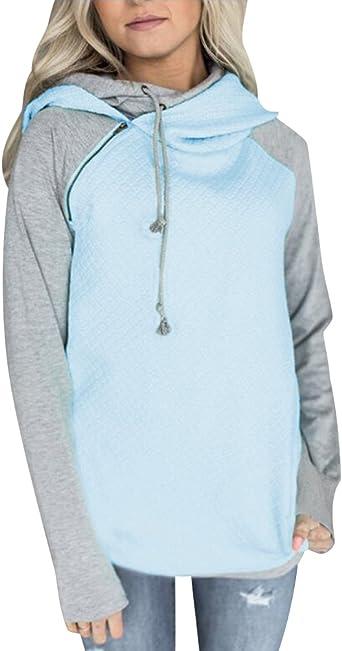 Sudaderas con Capucha Mujer Sudadera Chica Hoodies Oversize Pullover Juveniles Camisas Camisetas Manga Larga Anchas Grandes Invierno Suéter Jersey Pulóver Largas Deportivas Señoras Deporte Pull-Over: Amazon.es: Ropa y accesorios
