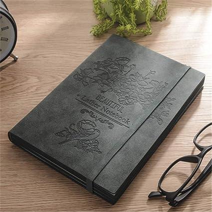 Cuaderno de tapa dura A5 de piel suave, con anilla de ...