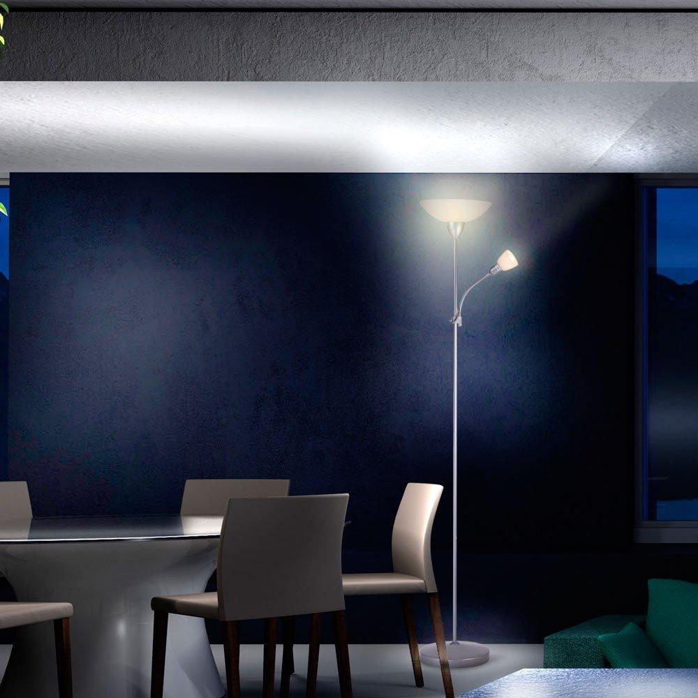 9W LED Stehleuchte Wohnzimmerlampe Leseleuchte Stehlampe ...