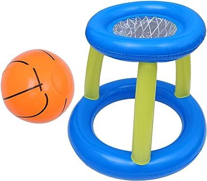 CLISPEED 61 Cm Piscina para Niños Aro de Baloncesto Y Pelota de Agua Inflable Juego de Billar GOL Aro Padre E Hijo Juguete de Pelota de Billar Interactivo: Amazon.es: Juguetes y juegos