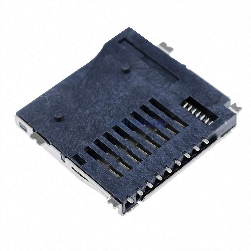 20Pcs NEW TransFlash TF Micro Memory SD Card Self-eject Socket Plug Adapter