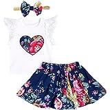 K-youth Vestido para Bebés, Floral Imprimir Vestido Niña Vestido de Fiesta Sin Manga
