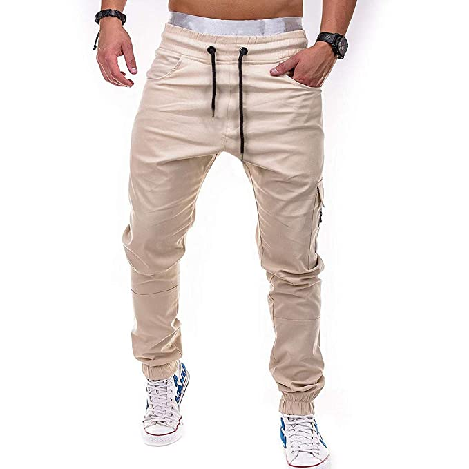 Amazon.com: MIS1950s Mens Cargo Trousers Working Pants ...