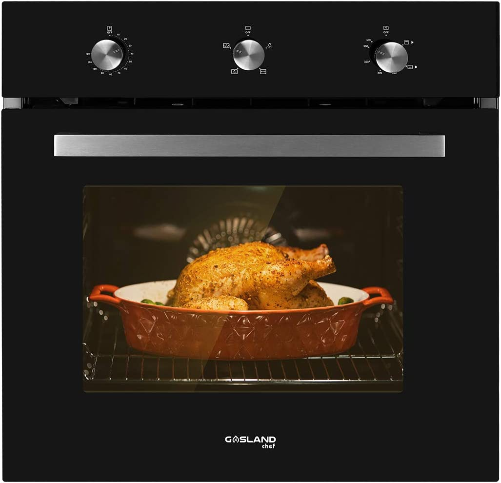 Single Wall Oven, GASLAND Chef GS606MB 24'' Built-in Natural Gas Oven