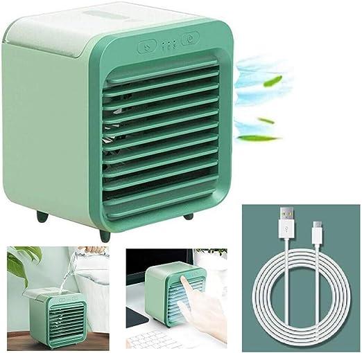 Aire Acondicionado Recargable Refrigerado por Agua YZSBQCDS Enfriador De Aire Port/átil Ventilador De Enfriamiento De Aire M/óvil Personal para Oficina En El Hogar