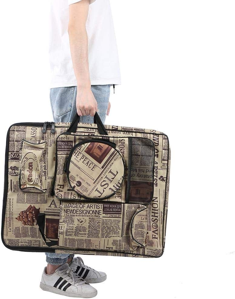 Art Portfolio Case Artist Portfolio Backpack Bag Art Portfolio Carry Case Bag Backpack for Drawing Board Folding Easel Palette