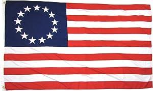Betsy Ross 13 Star USA American 3x5 Feet Flag by TrendyLuz Flags