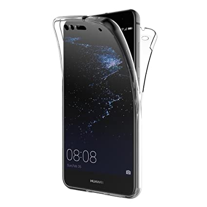 AICEK Funda Huawei P10 Lite, Transparente Silicona 360°Full Body Fundas para Huawei P10 Lite Carcasa Silicona Funda Case (5.2
