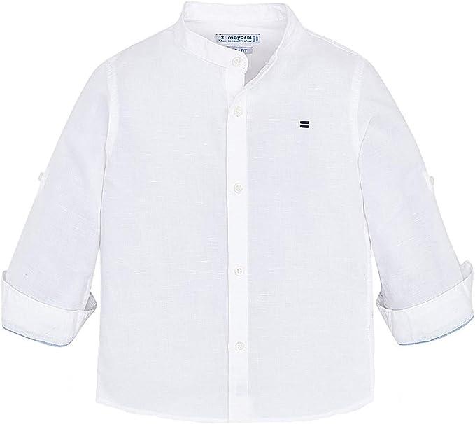 Mayoral, Camisa para niño - 3170, Blanco: Amazon.es: Ropa y accesorios