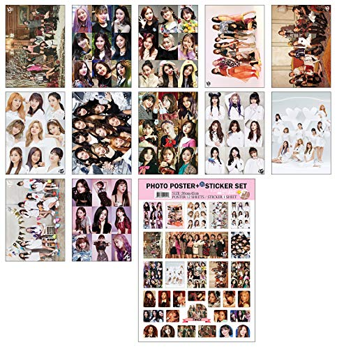 Large Poster Set - IDOLPARK K-POP Group 2019 New 12 Posters + 1 Sticker Set (All A3 Size) (Twice)