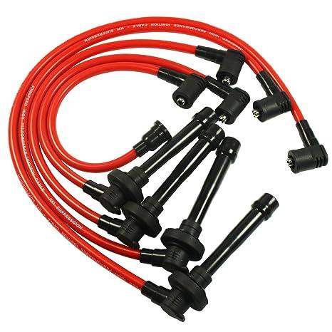 amazon com: jdmspeed new spark plug wire set for honda civic del sol 92-00  eg ek ej d15 d16 spiral core: automotive