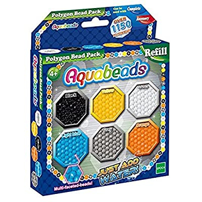 Aquabeads 30048 Polygon Refill Beads - Multi-Color: Toys & Games