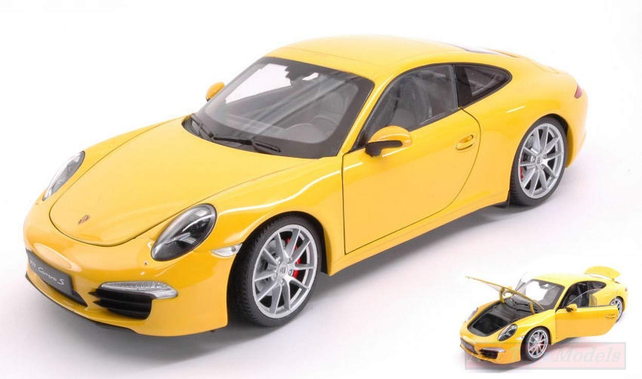 NEW Welly WE18047Y Porsche 911 (991) Carrera S 2012 Yellow 1:18 MODELLINO Die Cast: Amazon.es: Juguetes y juegos