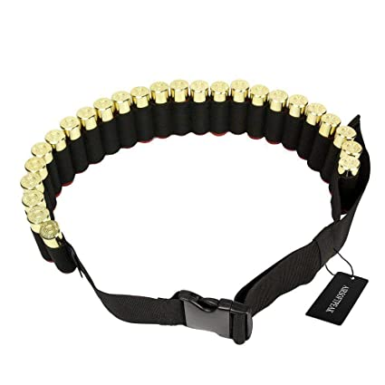 25round Shell 12ga Cartridge Ammo Sling Belt 8 Shell Shotgun Butt Stock Holder Clients First Sporting Goods