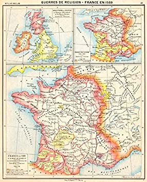Carte Angleterre Ecosse.France Guerres De Religion En 1589 Angleterre Ecosse