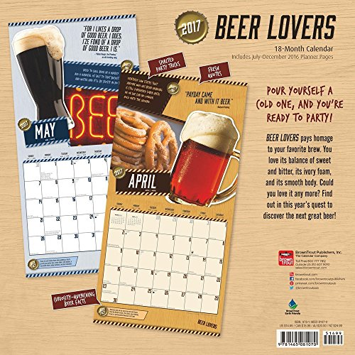 2017 Monthly Wall Calendar - Beer Lovers Photo #3