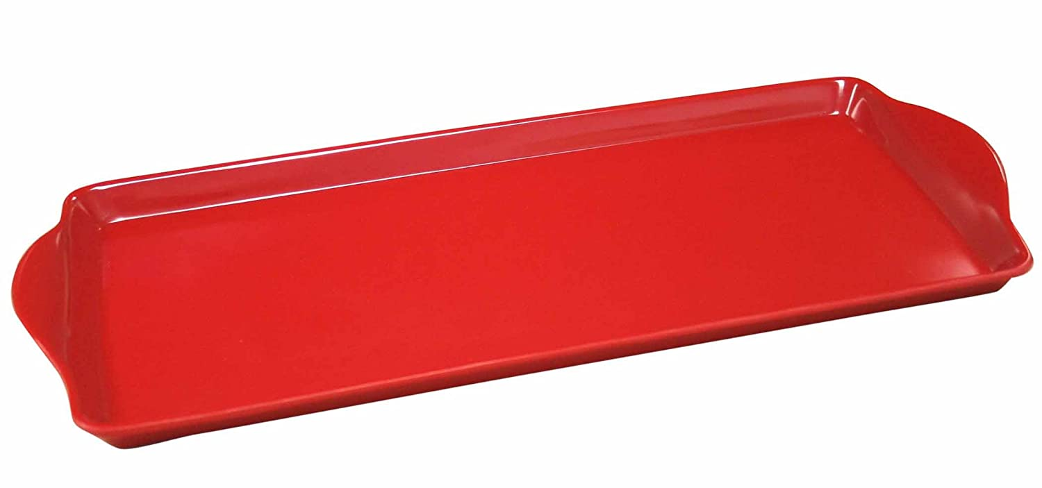 Reston Lloyd, 06600, Melmaine Tidbit Tray, Red