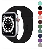 Compatible with Apple Watch Band 40mm 38mm,Soft Silicone Fitness Replacement Accessories Straps Wristbands for iWatch…