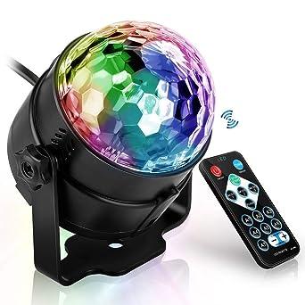 Luz de Fiesta, Luces de bola de discoteca Mágica Lámpara Proyector ...