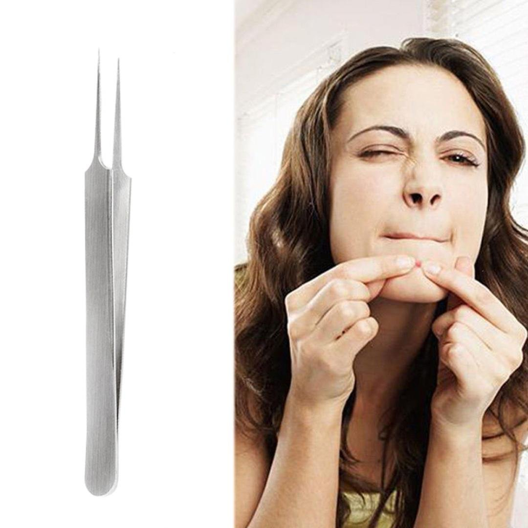 Bolayu Extractor Remover Tool Set For Pimple Blemish Comedone Acne (Silver / 1PCS)