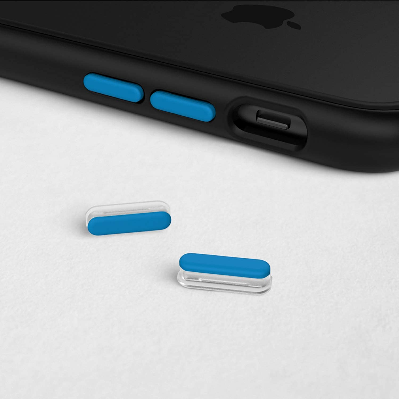 Extra Buttons for RhinoShield CrashGuard NX/Mod NX Apple Smartphone Cases | Additional Customization for All RhinoShield iPhone NX Smartphone Cases - Azure Blue