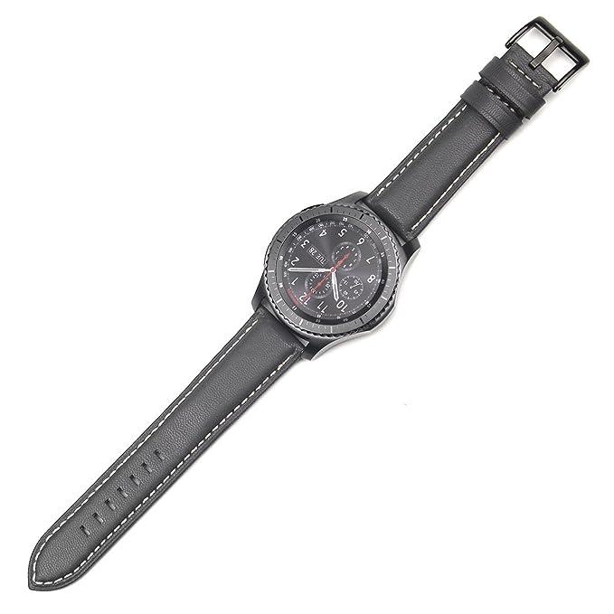 1 opinioni per Gear S3Frontier/Classic Leather Watch Band, Datotech 22mm Premium morbido