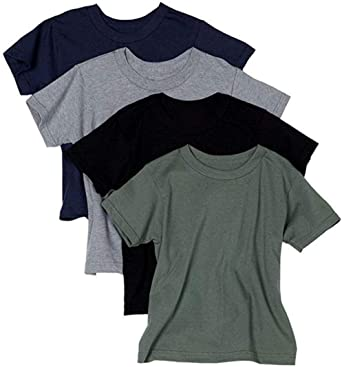 Hanes 4 Pack T-shirt Black /& Gray Size Large 1st Quality
