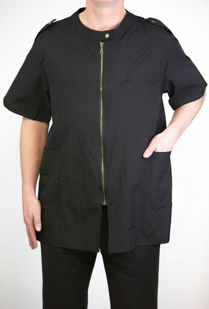 ''Colin Barber Jacket'', Military Inspired Barber/hair Stylist Nylon Uniform By Charlene (Large)