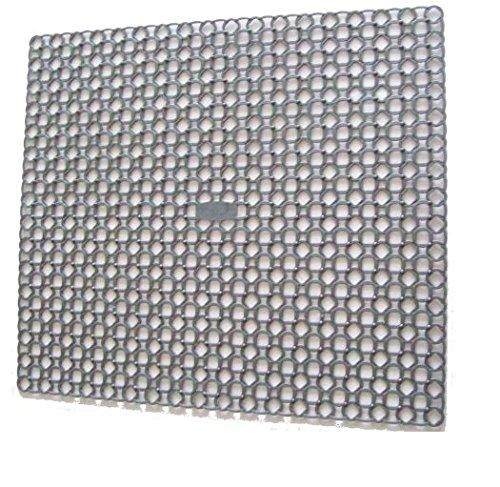 Whitefurze Grey Square Sink Mat Drainer 35 x 39  Centimeter