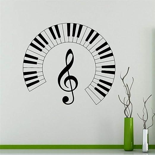 Cyalla Teclas Del Piano Tatuajes De Pared Notas Musicales Etiqueta ...