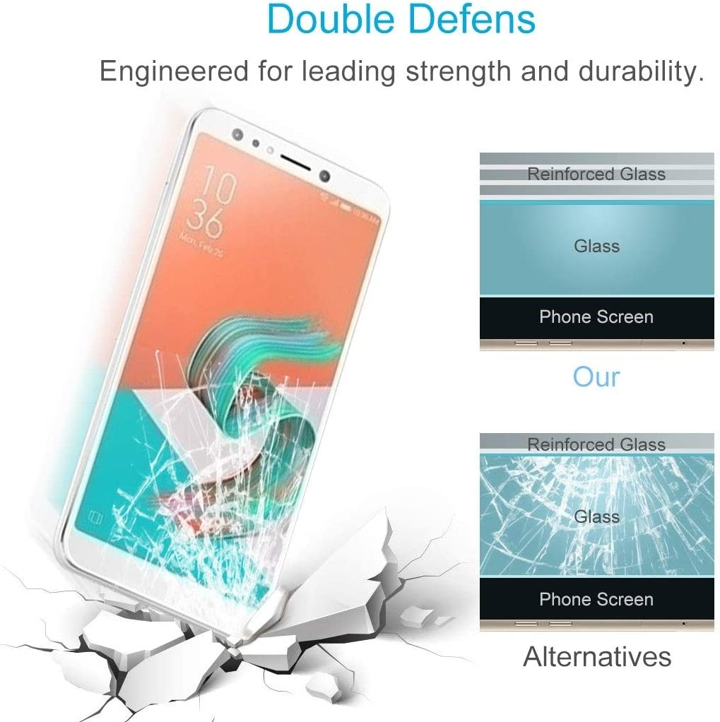 CAIFENG Tempered Glass Film Screen Protector XINGHCEN 100 PCS for Asus Zenfone 5 Lite ZC600KL 0.26mm 9H Surface Hardness 2.5D Explosion-Proof Tempered Glass Screen Film Anti-Scratch