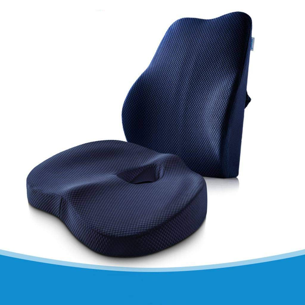 Memory Foam Seat Cushions Cushion Chair Cushion Chair Pads,Comfort Breathable Relieve Back, Sciatica, Coccyx and Tailbone Pain Office Chair-C-1