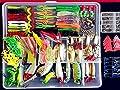 275pcs Set Bionic Fishing Lure Tackle Kit Set Minnow Crank Spoon Bait Spinner Lure Soft Grubs Shrimp Lure Hard Metal Sequins Lure with Sharp Fishing Hooks Bait suit