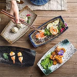 Horno de estilo japonés Vajilla de cerámica Barco creativo en ...