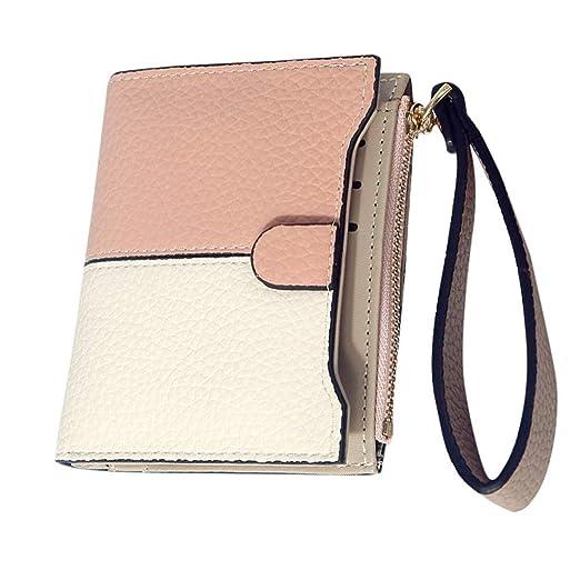 HYSGM Wallet For Women Leather Purse Splice Color Zipper ...