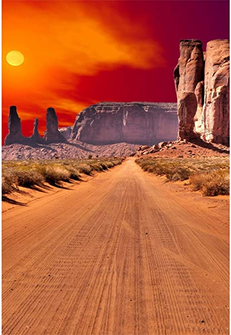 GoEoo 8x6.5ft Dusk Sunset Huge Cactus Saguaros Mountains Vinyl Photography Background Wildland Scenic Backdrop Personal Portrait Shoot Landscape Wallpaper Studio Props