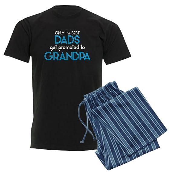 1123977e CafePress Best DADS GET Promoted to Grandpa Pajama Set: Amazon.co.uk:  Clothing