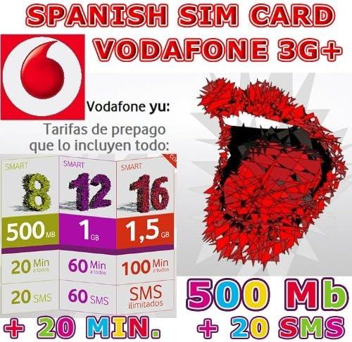 TARJETA SIM PREPAGO VODAFONE Yu SMART 8: Amazon.es: Electrónica