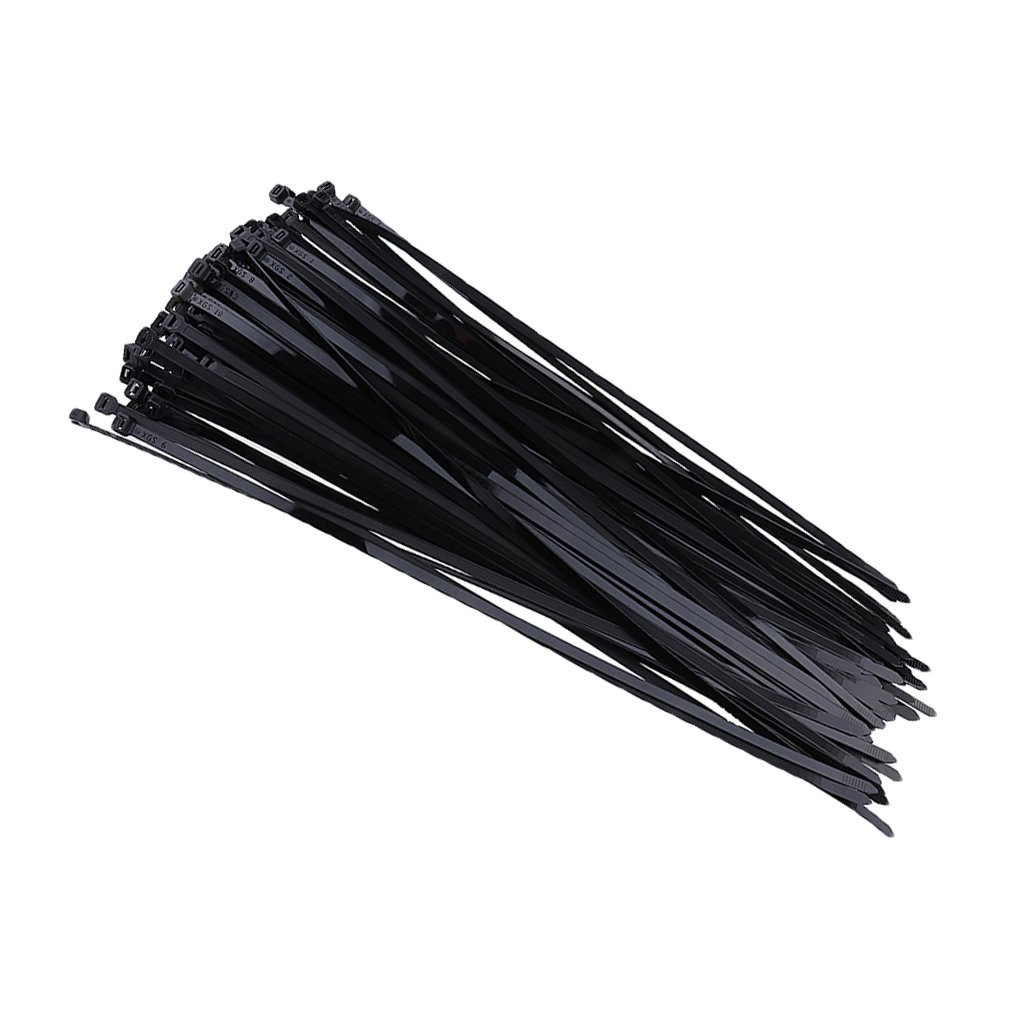 Dovewill Durable 100 Pieces 20inch Nylon Cable Zip Ties Heavy Duty Self Locking Ties for Workshop Black