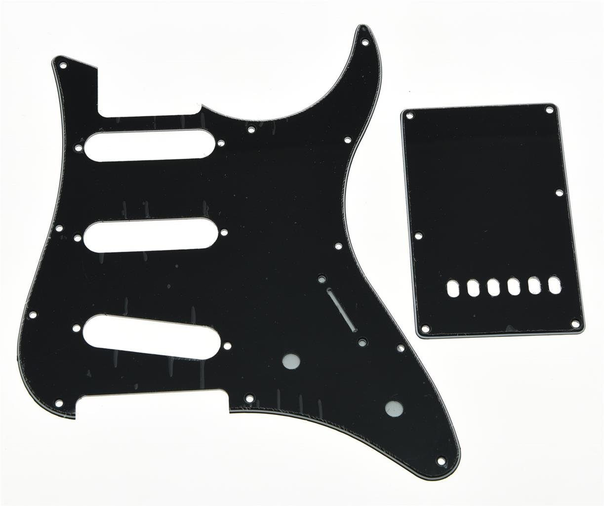 KAISH Guitar SSS Pickguard and Tremolo Trem Cover Back Plate fits Yamaha PACIFICA Guitar Black 3 Ply Kaish Music YH652