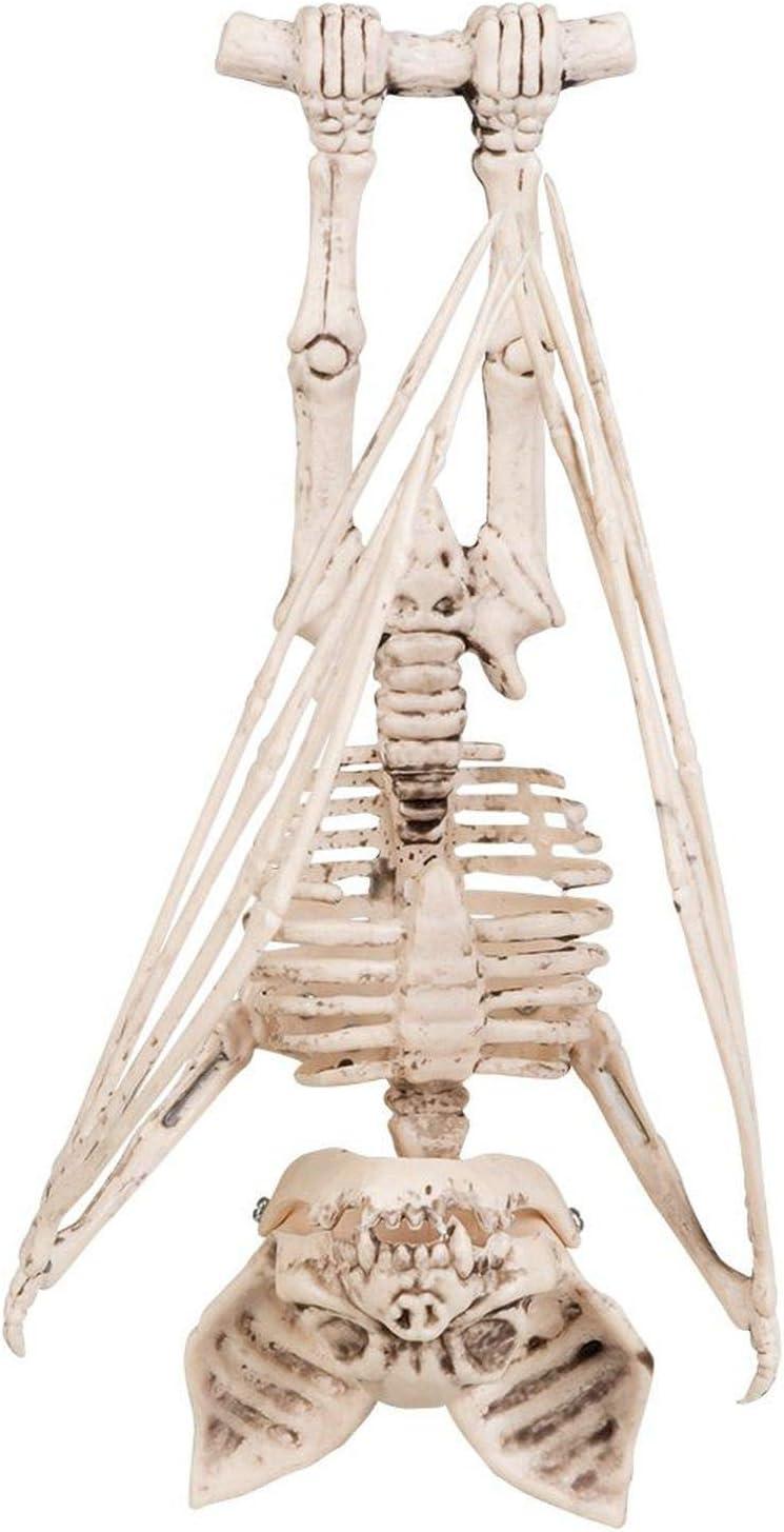 Boland 72185 D/écoration Figurine Chauve-souris Squelette 29 cm Mixte Adulte Blanc