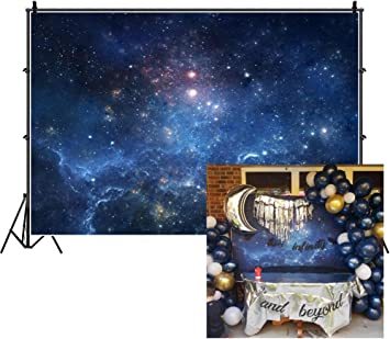 7x5ft Fantastic Nebula Backdrop Aerospace Starry Sky Photography Background Universe Galaxy Cosmos Milky Way Outer Space Science Fiction Photo Studio Props Vinyl Wallpaper Child Adult Portrait