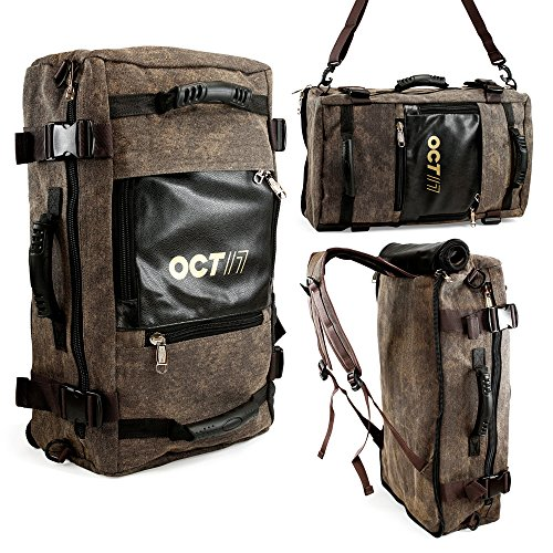 Oct17 Large 40L Duffel Travel Bag Backpack Hiking Outdoor Knapsack 40L Multi Function Camping Climbing Mountaineering Daypack Pack Messenger Rucksack shoulders Luggage Computer 17-Inch Laptops Bag