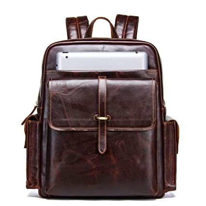 e47281d5e1d4 Amazon.com: Canyixiu Casual Leather Backpack Men's New Leather ...