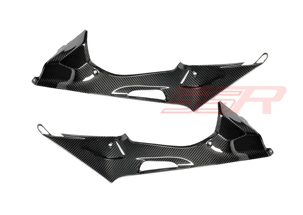 2010 2011 2012 2013 2014 BMW S1000RR HP4 Carbon Fiber Twill Under Tank/Seat Side Panel Fairing Cover Set