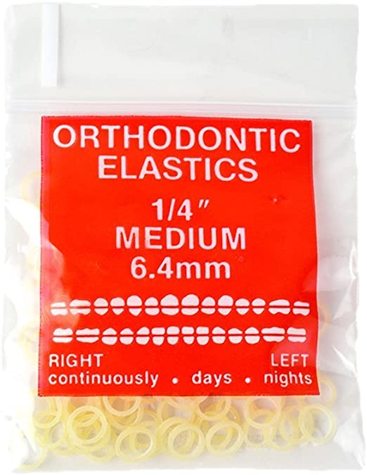 Amazon Com 100 Pack Orthodontic Elastics Bands 1 4 Inch Diameter