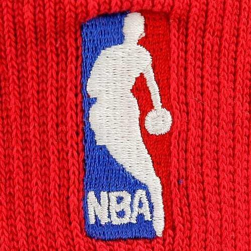 NBA Red NBA Logoman 10-13 Quarter Socks