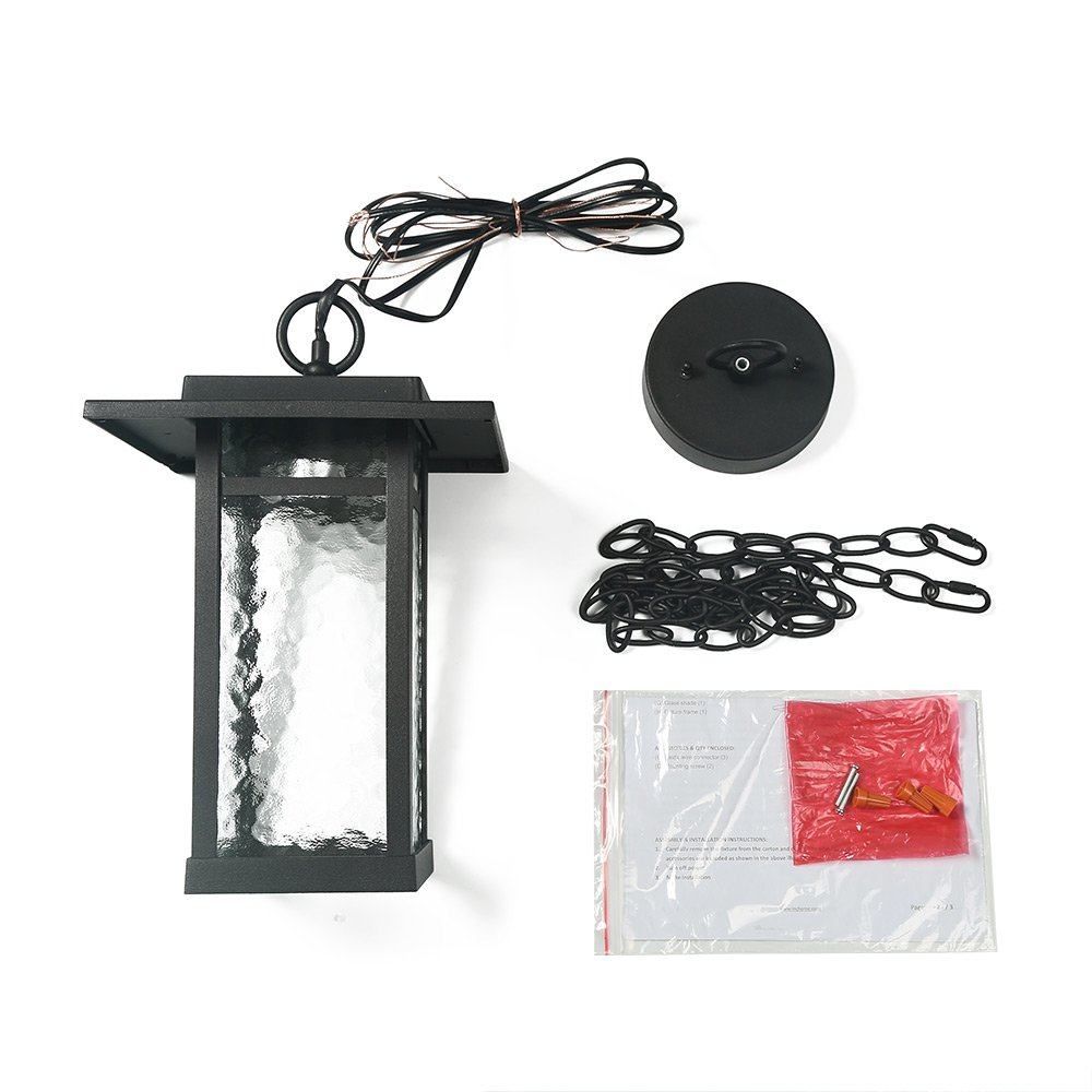 LOG BARN A03320 1-Light Indoor-Outdoor Wall Sconce Porch Light Farmhouse in Smooth Black with Clear Glass